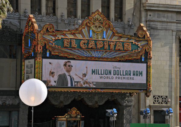 Disney Million Dollar Arm World Premiere at El Capitan Theatre