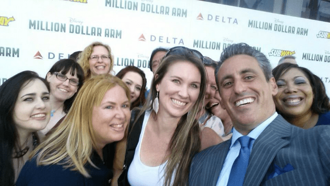 Million Dollar Arm Premiere JB Bernstein Selfie