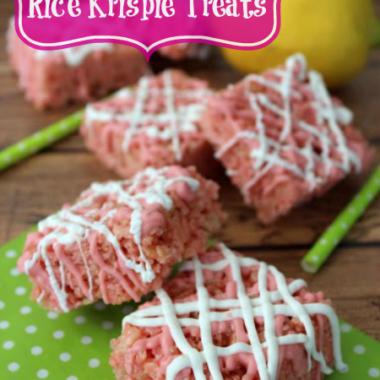 Pink Lemonade Rice Krispie Treats