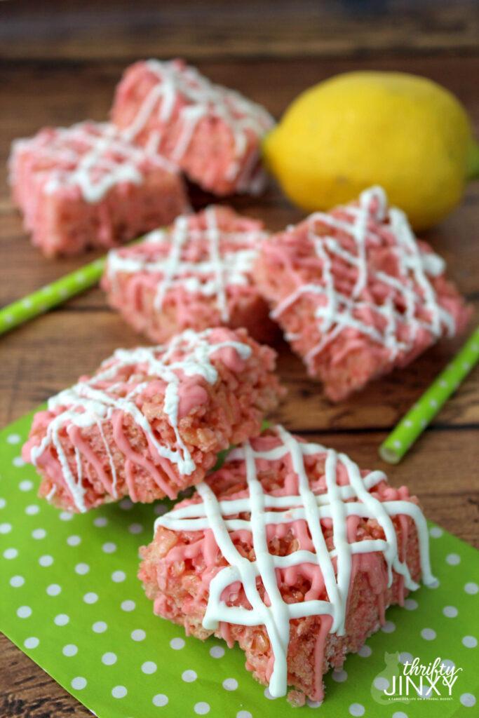 Pink Lemonade Rice Krispies Treats