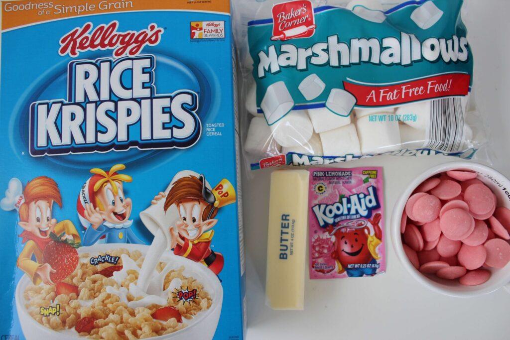 Pink Lemonade Rice Krispies Treats Ingredients