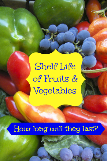 Shelf life of fruits and vegetables
