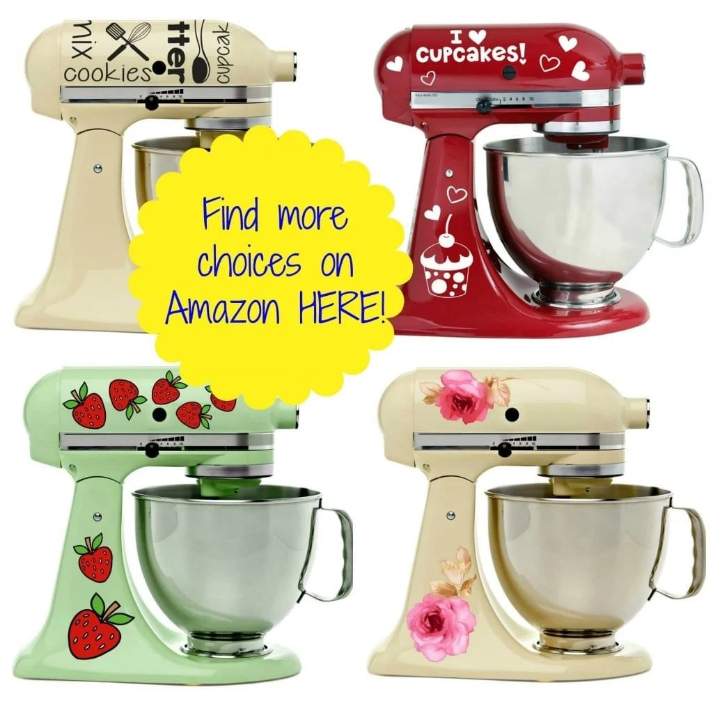 Kitchen Aid Decals | Adorable Vinyl Decals For Kitchenaid Mixers Starting At