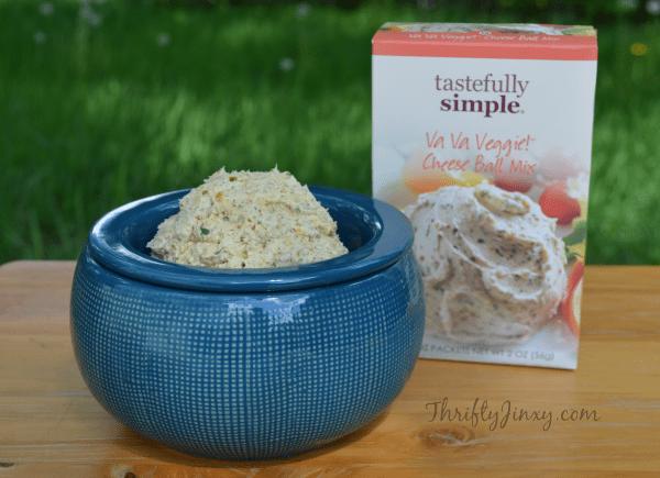 tastefully simple va va veggie cheese ball mix