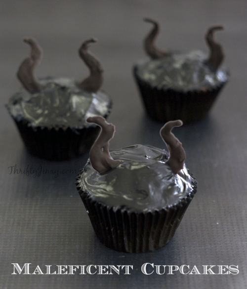 Maleficent Cupcakes with Horns - Disney