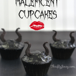Maleficent Cupcakes with Horns Inspired by Disney