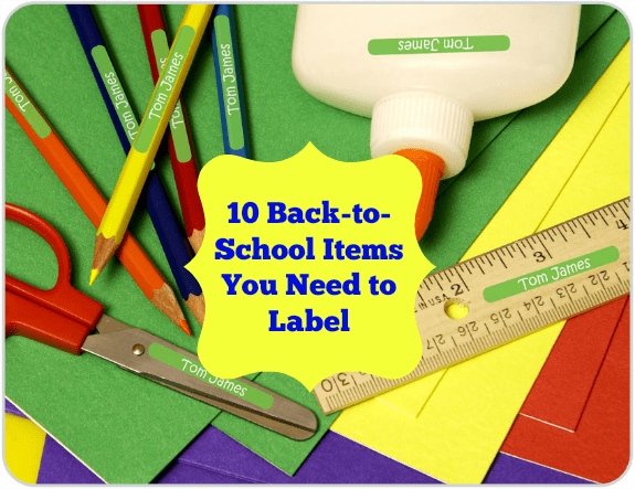 10 Back-to-School Items You Need to Label