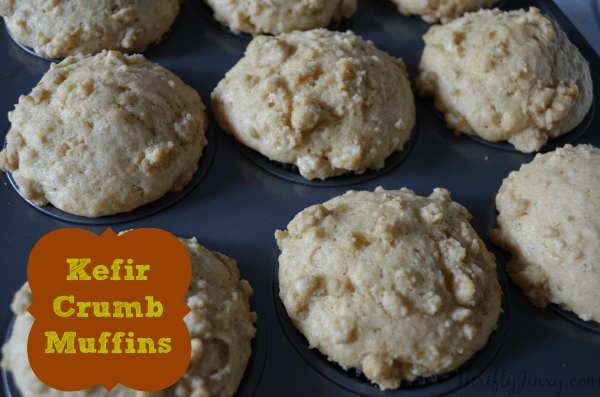 Kefir Crumb Muffins for Breakfast On-the-Go