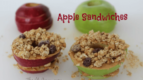 Apple Sandwiches - Great After School Snack!