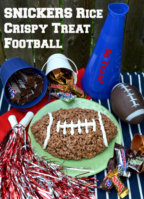 SNICKERS Rice Crispy Treat Football Recipe #Chocolate4TheWin