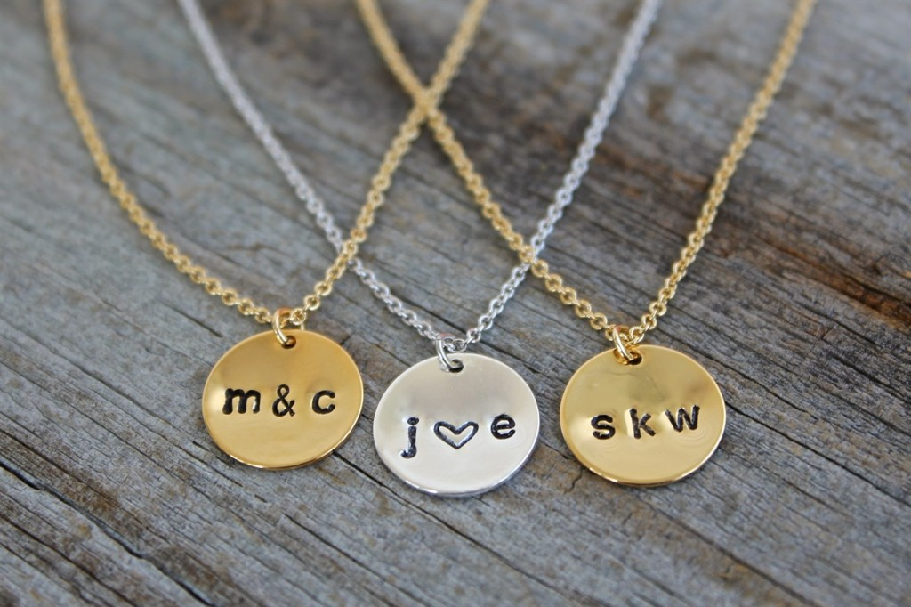 jane hand stamped necklace