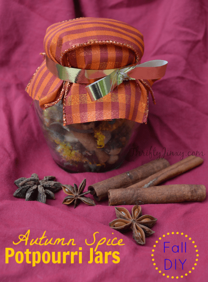 autumn spice potpourri jars craft from baby food jar