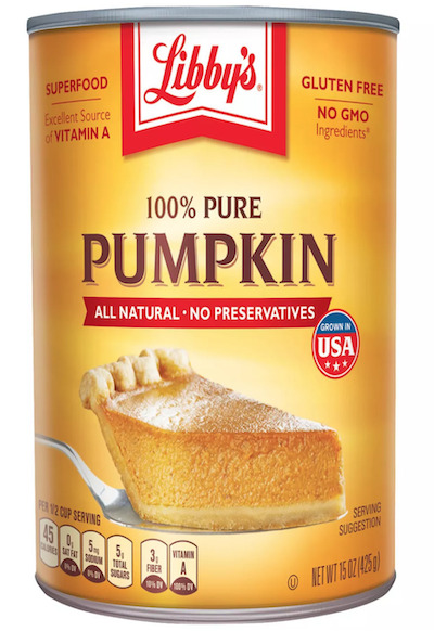 Libby's Pure Pumpkin Can