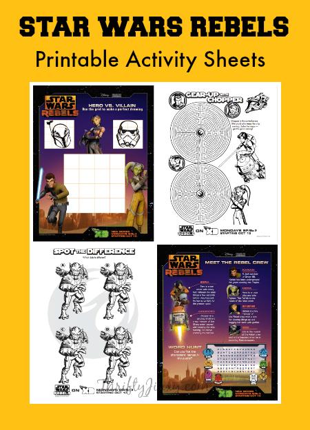 Star Wars Rebels Printable Activity Sheets