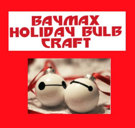 Baymax Holiday Ornament DIY Craft