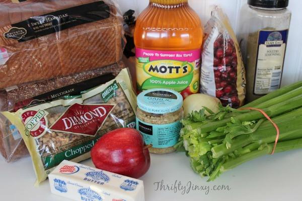 Cranberry Apple Walnut Stuffing Ingredients