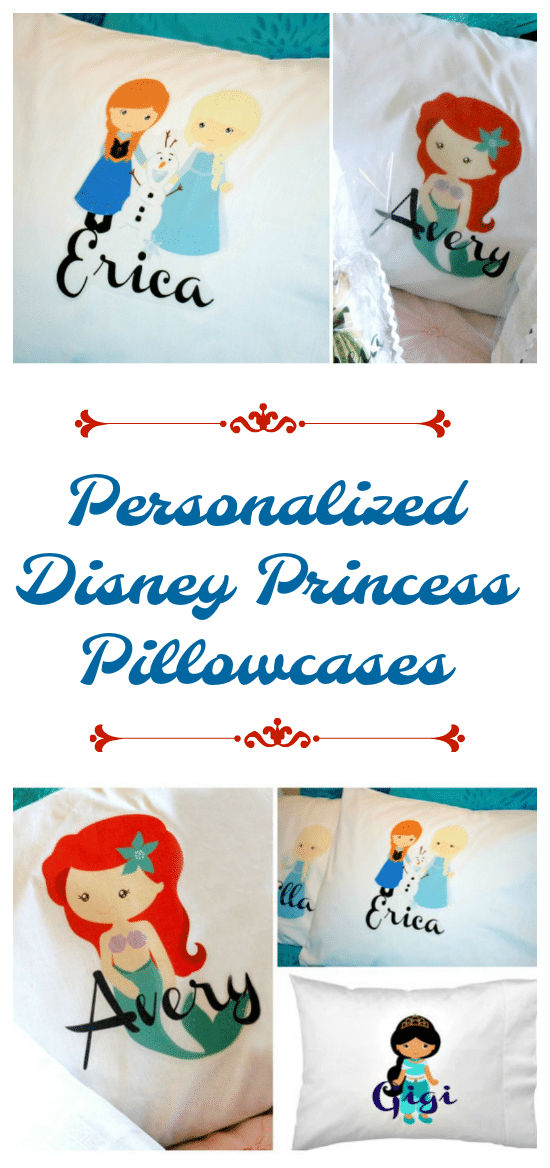 These Personalized Disney Princess Pillowcases make an excellent gift idea for your little Disney fan!