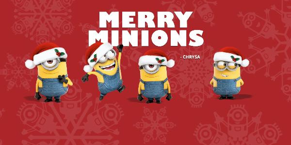 Minions Happy Holidays Card