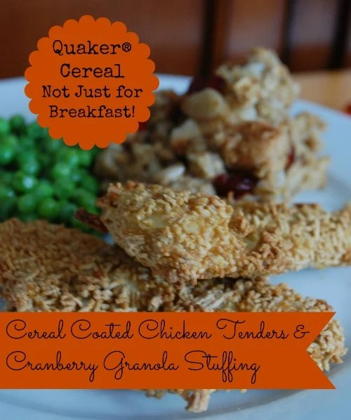 Cereal Coated Chicken Tenders and Granola Stuffing Recipe