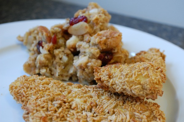 Cereal Coated Chicken Tenders and Granola Stuffing