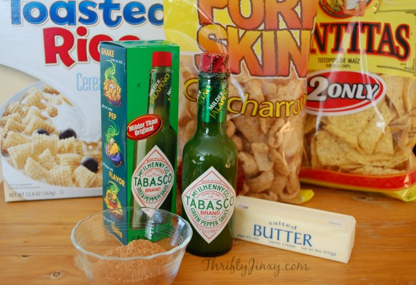 Kicked Up Snack Mix Ingredients