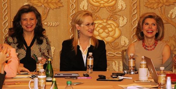 Tracey Ullman, Meryl Streep and Christine Baranski