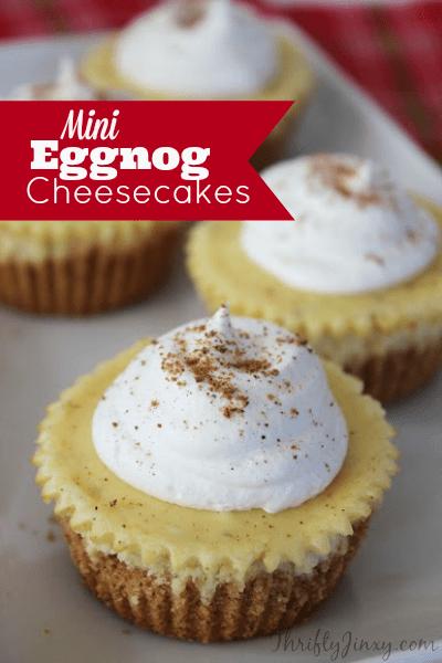 Mini Eggnog Cheesecakes Recipe