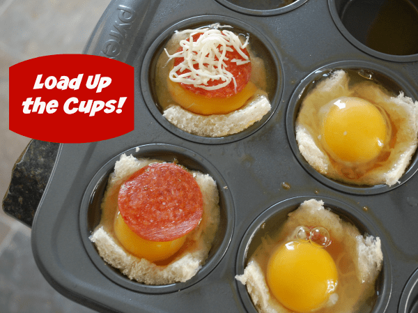 Pepperoni Breakfast Cup Recipe Preparation