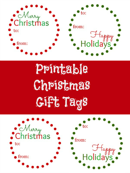 picture regarding Printable Holiday Tags identify No cost Printable Xmas Reward Tags - Thrifty Jinxy