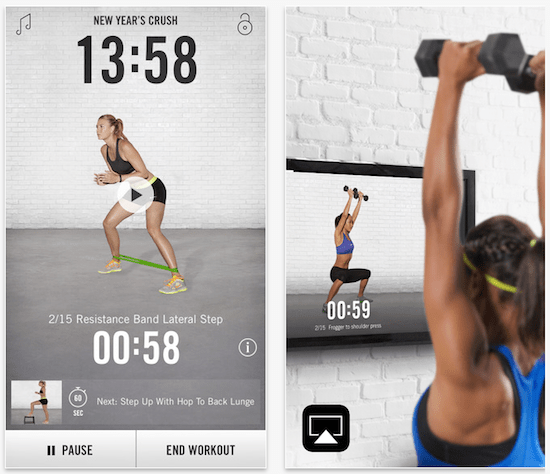 Nike Training Club App Screenshots