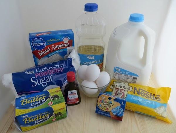 Snowflake Cupcakes Ingredients