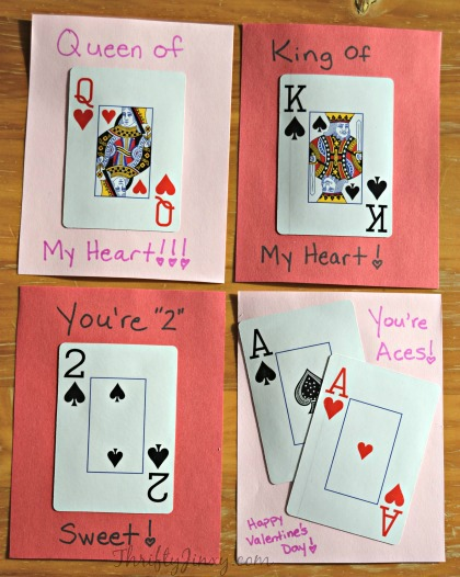 DIY Playing Card Valentine Cards