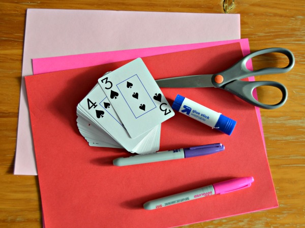 DIY Playing Card Valentines Supplies
