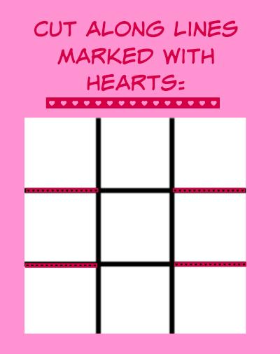 Dog Valentines Treats Basket Template