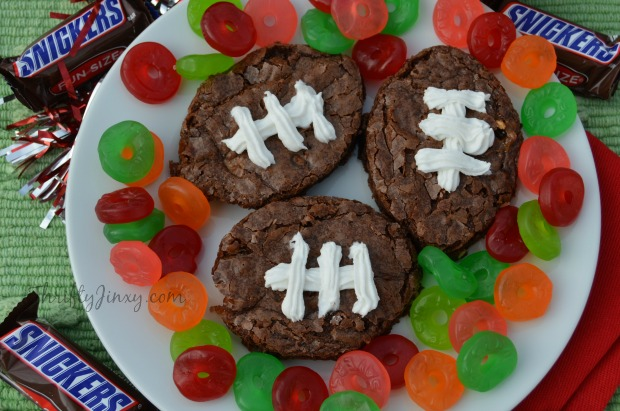 Football Snickers Brownie Recipe with Life Savers