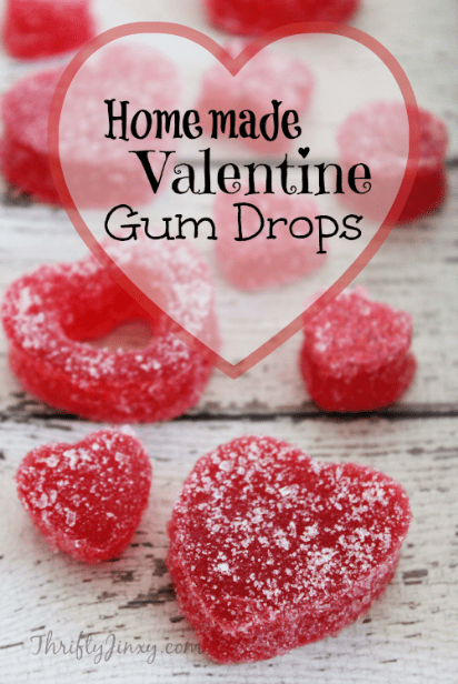 This Homemade Valentine Gum Drops Recipe is a fun way to make your own Valentine candy in your kitchen. #candy #gumdrops #ValentinesDay
