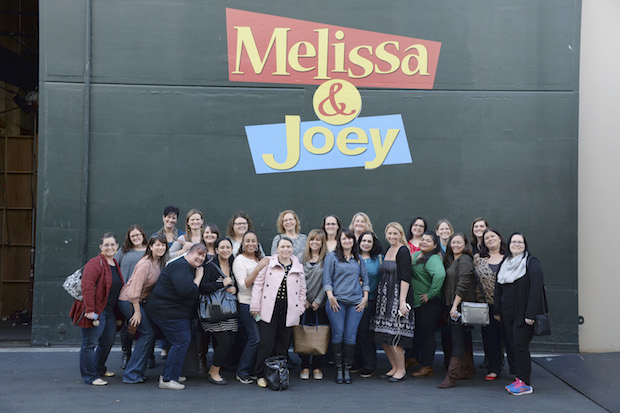MOM BLOGGERS on the set of Melissa and Joey