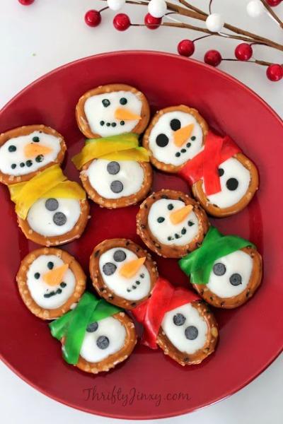 Snowman Pretzels Recipe