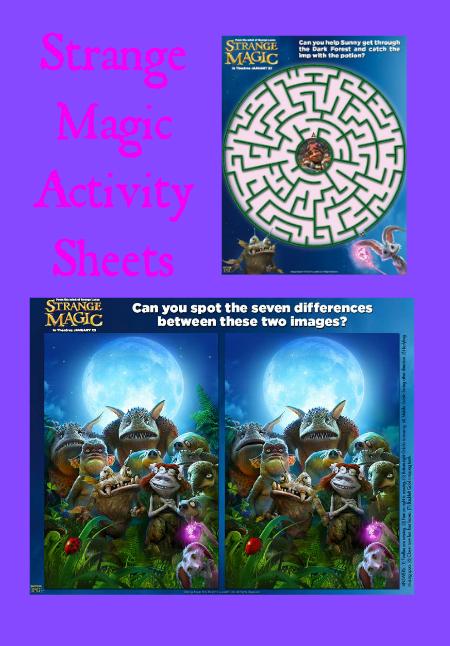 Strange Magic Printable Activity Sheets
