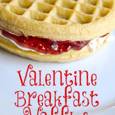Valentine Breakfast Waffles