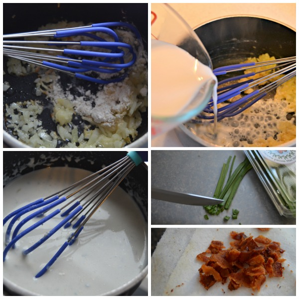 Warm Blue Cheese Dip Process