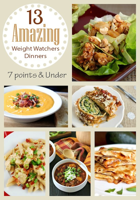 Weight Watchers Dinner Recipes Roundup
