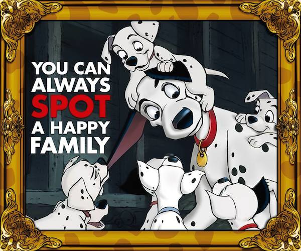 101 Dalmatians Happy Family