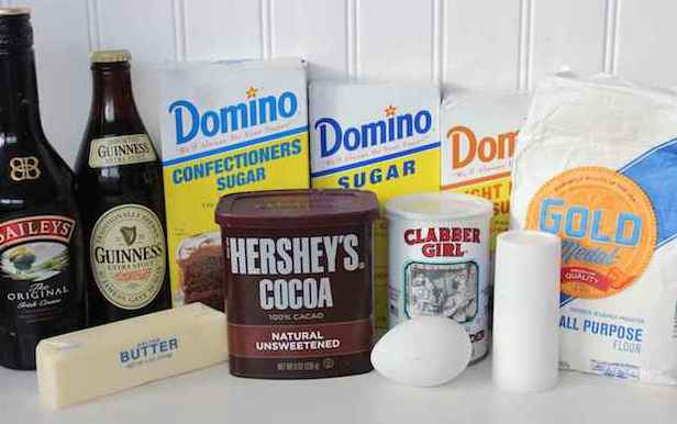 Chocolate Baked Guinness Donuts Recipe with Irish Cream Glaze Ingredients