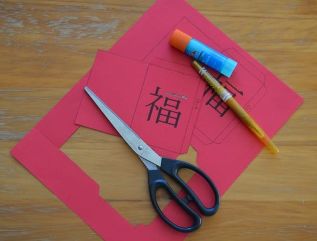 DIY Lucky Red Envelope Process