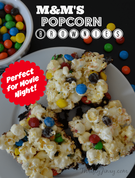 M&Ms Popcorn Brownies