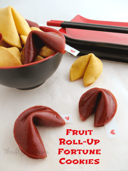 Making Fruit Roll-Up Fortune Cookies