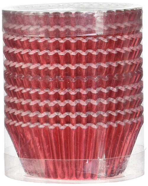 Red Foil Cupcake Liners