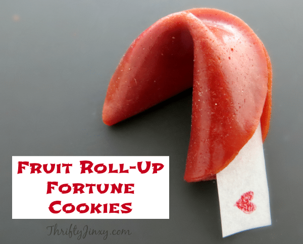 Valentine Fruit Roll-Up Fortune Cookies Recipe Finished