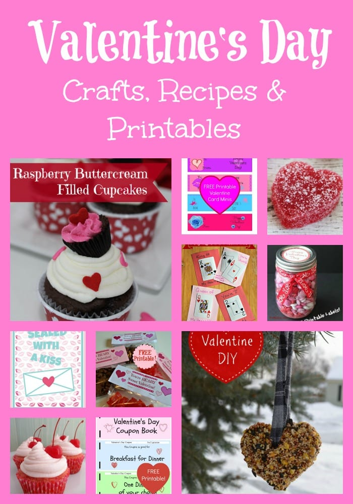 photo regarding Printable Valentine Craft named Valentines Working day Recipes, Crafts, Printables and Further more